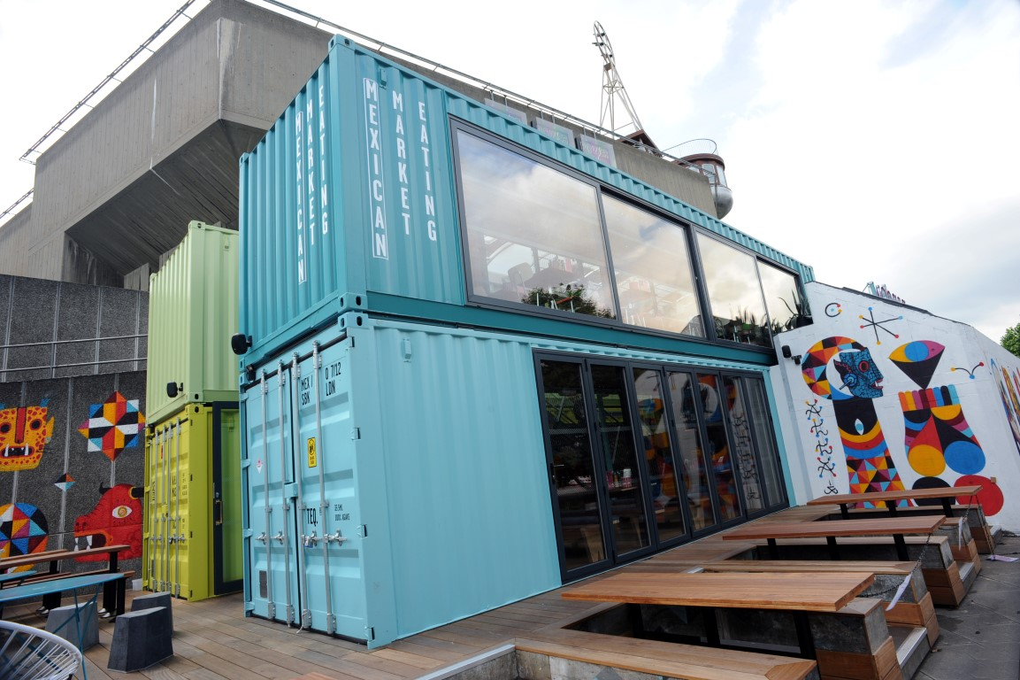 Shipping containers latest in sustainable restaurant design du boulay contracts du boulay - Wahaca shipping container restaurant ...